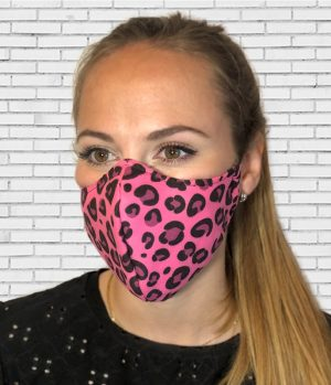 Mascarilla #colormask Leopard Pink