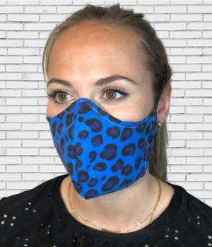 Mascarilla #colormask Leopard Azul