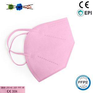 Mascarilla FFP2 rosa homologada