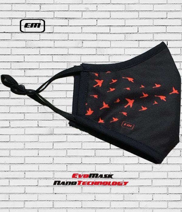 Mascarilla Evomask Birds Roja