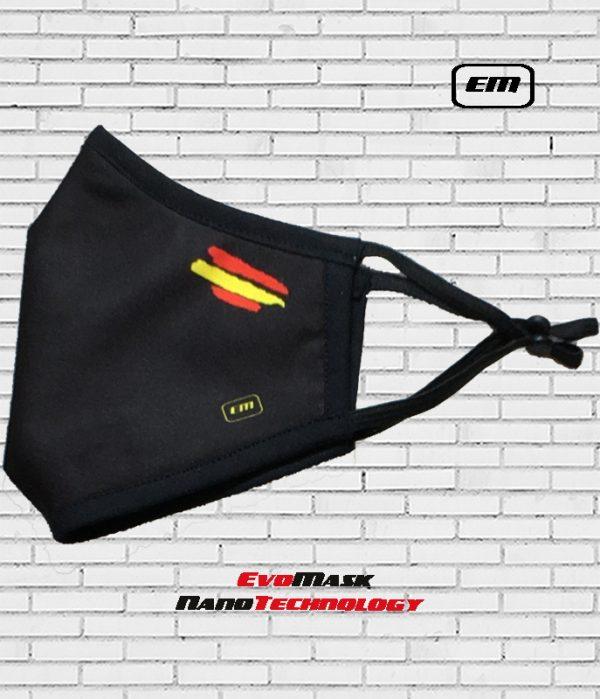 Mascarilla Evomask Bandera España_negra